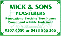 Mick & Sons Plasterers, Perth